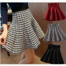 Skirt Style 2018 Winter Skirts Women Knitted Skirt High Waist Pleated mini Skirt Casual Elastic Flar