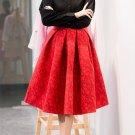 New Faldas 2017 Summer Style Vintage Skirt High Waist Work Wear Midi Skirts Womens Fashion American