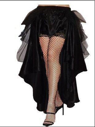free shipping Gothic Victorian Steampunk Burlesque Taffeta Lace Bustle Prom Wedding Skirt S-6XL