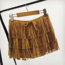 2017 Summer New Bohemian Style Fringed skirt Shorts High Waist Suede short Trousers with Tassel Fash