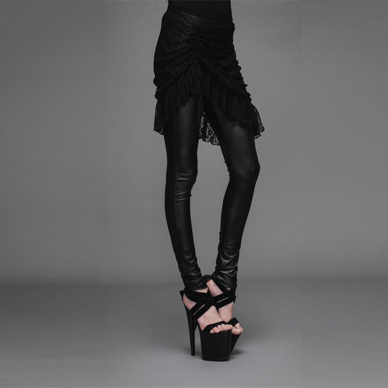 Devil Fashion Gothic Women\'s Black Leggings Steampunk European and American Style Casual Leggings w