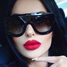 Unique Women Sunglasses Square Glasses Vintage Big Frame Sun Glasses Acetate Shades Gradient Eyeglas