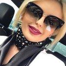 Semi-Rimless Sunglasses Women Brand Designer Clear Lens Sun Glasses For Women Fashion Sunglass