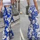 Hot Women Loose Stretch High Waist Wide Leg Long Pants Palazzo Trousers