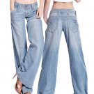 Women\'s Fashion Slim Temperament Casual Vintage Wide-legged Jeans Flared Trousers smt87