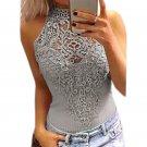Body Lace Summer Playsuit Bodycon Sleeveless Patchwork Sexy Bodysuit Feminino 2017 New Women Rompers