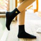 New Bling Bling Golden Heart-shape Cotton Women Socks Fashion Embroidery Glitter Love Socks Autumn W