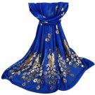 2017 Womens Luxury Chiffon Scarf Elegant Golden Peacock Veil Scarves Shawl Stole Soft Long Wraps Sca