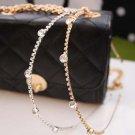 Shiny Crystal Rhinestone Thin Metallic Hairbands Golden Silver Headbands Headwear  Women