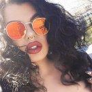 Men Luxury Brand Sunglasses Women 2016 Round Rose Gold Sunglasses HD Flat Lens Couple Sun Glasses Lu