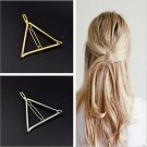 HQ 1pcs 2017 New Arrival Vintage Gold/ Silver Color Metal Triangle Hairpin Women Fashion Hair Access