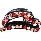 Heart Shape Rhinestone Hair Claws Clips For Women Fashion Jewelry Acetate Hair Crab Accessories 8cm
