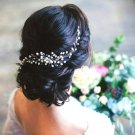 Wedding Party White Pearl Beads Braided  Hair Comb Hair Jewelry Hair Accessories