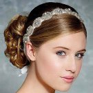 Bridal Hair Accessories Vintage Inspired Rhinestone Headband Crystal Pearls Wedding Headband Women F