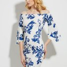 Bell Sleeve Slash Neck Vacation Women\'s Party Dress