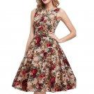 Fashion Summer Dress Women Party Dress cotton print beach Dresses round neck sexy bandage dresses pl