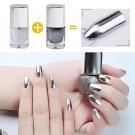 Mirror Nail Polish Metallic Lacquer Silver Nail Mirror Effect Metal Gold Nail Gel Polish Base Top Co