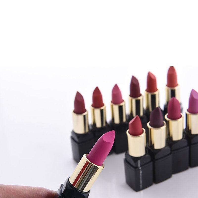New Lips Makeup Sexy Nude Velvet Matte Lipstick Lip Kits 12pcs Hengfang Waterproof Make Up Pigments