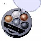 5 Colors Pigment Eyeshadow Palette Eye Shadow Powder Metallic Shimmer Makeup Beauty Profissional Mak