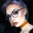 Vintage Round Glasses Men Women Flower Rivet Frame With Clear Lens Glasses Eyewear Retro Female Opti