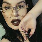 New Metal Frame Steampunk Sunglasses Clear Lens Glasses Eyewear Frame Women Brand Designer Unique Me