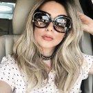 Luxury Brand Designer Sunglasses Women Oversized Big Half Frame UV400 Vintage Sun Glasses Retro Eyew