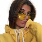 New Luxury Brand Designer Transparent Sunglasses Classic Matel Frame Men Women Cat Eye Clear Sun Gla