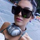 Fashion Rivet Woman Sunglasses Brand Designer Unisex Oversized Sunglasses Female Oversize Eyewear Vi