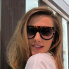 Sunglasses Fashion Women Flat Top Oversize Shield Shape Glasses Brand Design Vintage Sun glasses UV4