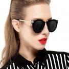 Luxury Vintage Round Sunglasses Women Brand Designer Cat Eye Sunglasses Points Sun Glasses For Women