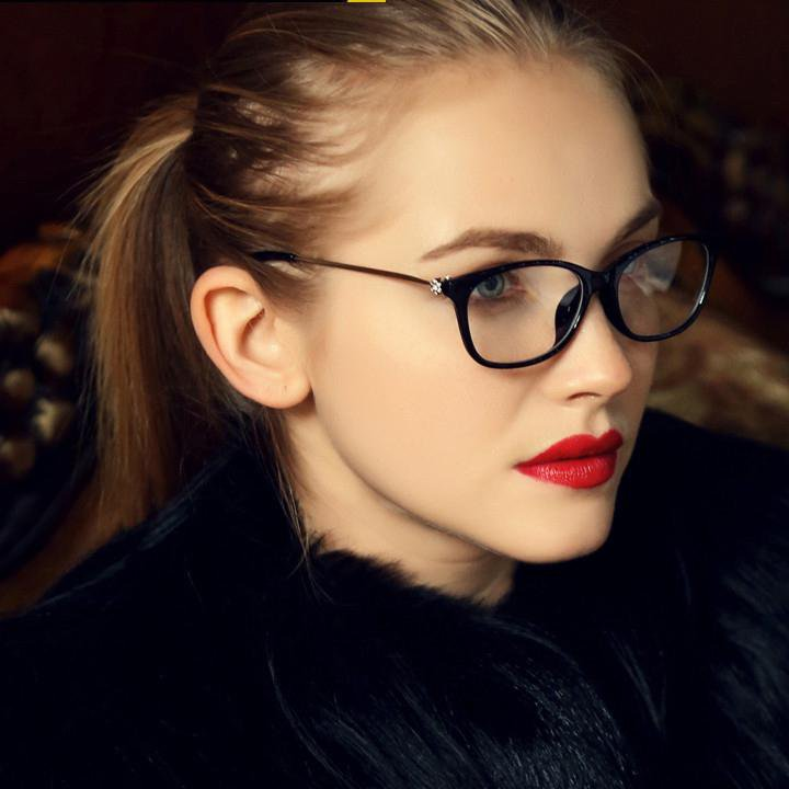 Brand Design Fashion Diamond  Women Eyeglasses Frames Women Computer Reading Spectacle Optical Frame