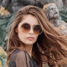Lady Fashion Brand Designer Mirror Sun Glasses Female Hot Big Size Round Women Sunglasses