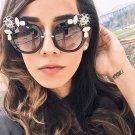 New Artificial Crystal Embellishment Cat Eye Sunglasses Women Luxury Fashion Summer Sun Glasses For