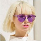 Frameless Sunglasses Transparent Brand Women Designer Siamese Frame UV400 Lenses Sun Glasses Fashion