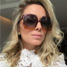 New Large Sunglasses Fashion Women Transparent Simple Through Color Sunglasses Men Women Brand Lady