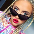 Sexy Cat Eye Sunglasses 2018 New Fashion Triangle Metal Pink Modern Retro Designer Women Sun Glasses