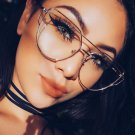 Luxury Metal Cat Eye Glasses For Women High Quality Clear Lens Glasses Gold Frame Female Transparent