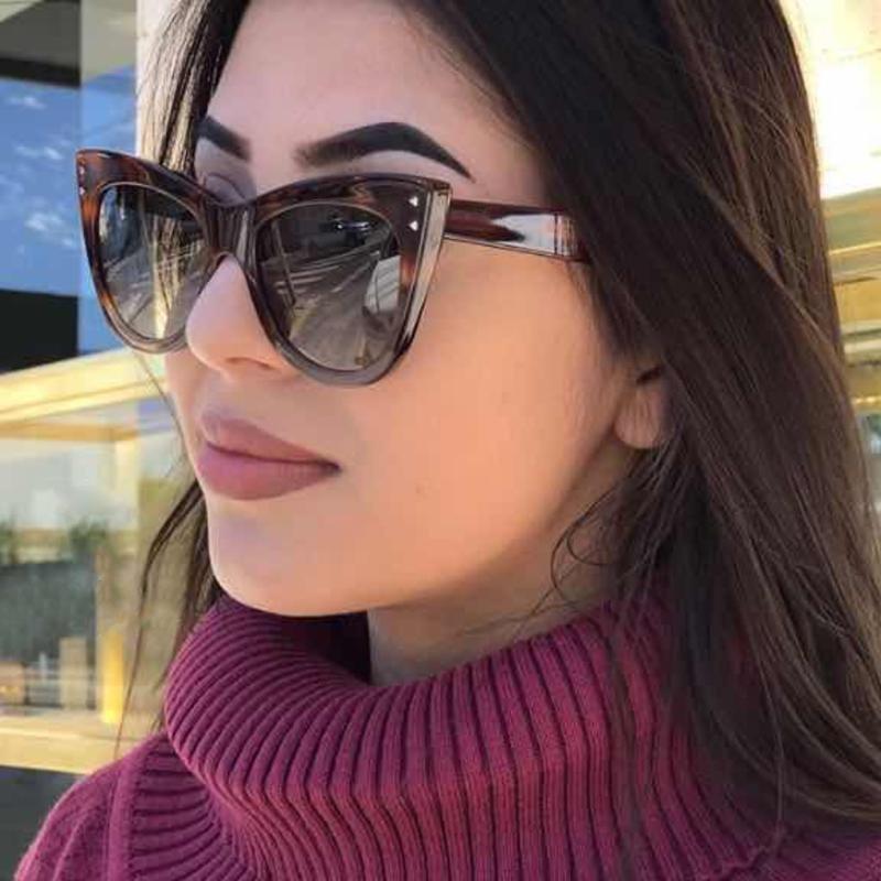 Fashion Design Women Sunglasses Cat Eye Classic Sun Glasses Gradient Lens Female Retro Moda oculos d