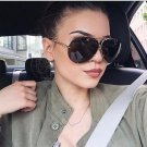 New Metal Round Pilot Sunglasses Women Oversized Vintage Sunglasses Unisex Brand Designer Glasses fo