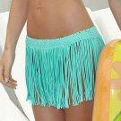 Bohemian Summer 2016 White Black Beachwear Swimwear Women Moda Praia Beach Skirts Crisp Cyan Fringe