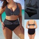 New Style Fashion Women\'s High Waisted Bikini Set Push Up Padded Swimsuit Bathing Suit Swimwear Dot
