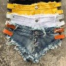 Tassel Denim Shorts Female Low Waist Short Jeans Summer Micro Bikini Summer Short Femme Sexy Shorts