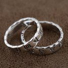 V.YA 925 Silver Rings Six Words Mantra Letter New Fashion 100% S925 Solid Sterling Silver Ring for W
