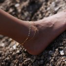 Summer hot New Fashion Foot jewelry alloy mix  color handmade  sheet  anklet gift for Women to beach
