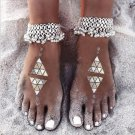 Vintage Silver Anklets For Women Chain Beach Ancient Bell Anklet Bracelet Foot Jewelry Accessories 2