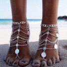 2pcs 2018 Sexy Multi Chain Tassels Anklets Antique Coin Ankle Bracelets Barefoot Sandals Beach Foot