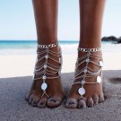 New Sexy Women Silver Anklet Chain Ankle Bracelet Hot Foot Jewelry Barefoot Sandal