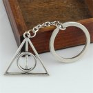 HOMOD New Design Keychain Silver Color Harry Potter keychain Vintage Triangle pendant Hermione Women