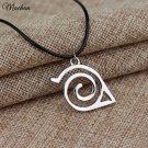 Free Shipping Trendy Fashion New Naruto Pendant Necklace Double Bands Konoha Sign For Men And Women