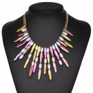 JUJIA 2017 new good quality Free Shipping fashion torques colorful necklace choker pendant statement